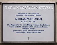 berliner_gedenktafel_hannoversche_str_1_mitte_muhammad_asad